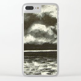 SILVER POLISH Clear iPhone Case