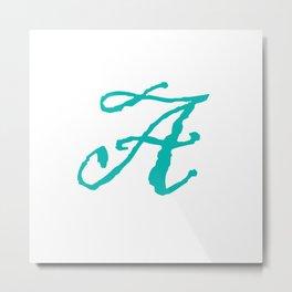 """""""A"""" // Initals // Monograms // Names Metal Print"""
