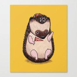 Sports Hedgehog Canvas Print