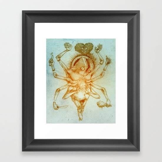 Crucified Self Portrait Framed Art Print