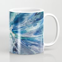 geode Mugs featuring Aquamarine Geode by Dallas Manicom