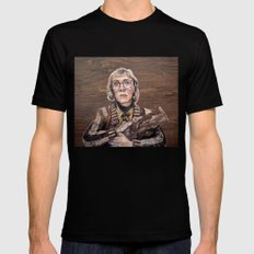 Log Lady / Twin Peaks X-LARGE Black Mens Fitted Tee
