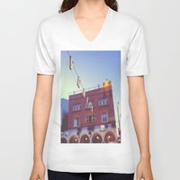 venice V-neck T-shirts featuring Venice by Yancey Wells