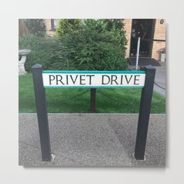 Privet Drive Sign Metal Print