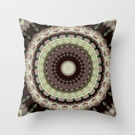 Sequential Baseline Mandala 12i4 Throw Pillow
