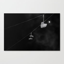 NIGHTTIME - Hanging shoes Canvas Print