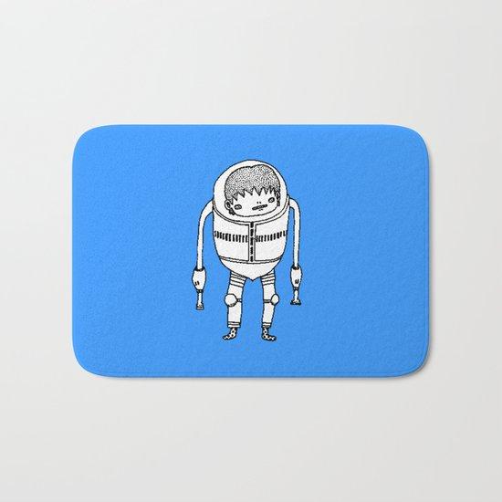 Cyborg Robot Zombie-boy ( HQ pixel ) Bath Mat