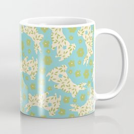 Blue Green Rabbits Coffee Mug