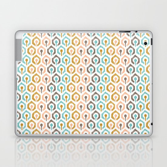 Honeycomb IKAT - Ivory Laptop & iPad Skin