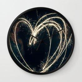 Sparkler Love II Wall Clock