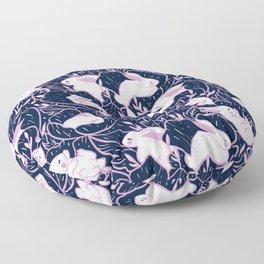 Where the bunnies sleep Floor Pillow