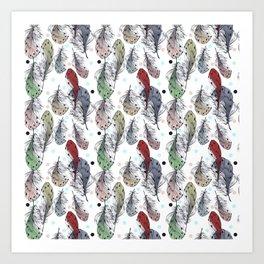 Falling Feathers Art Print