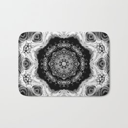 Black-and-White Abstract 55 Bath Mat