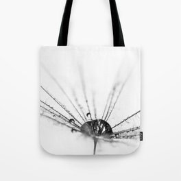 Abstract Beauty a wet Dandelion Seed Tote Bag