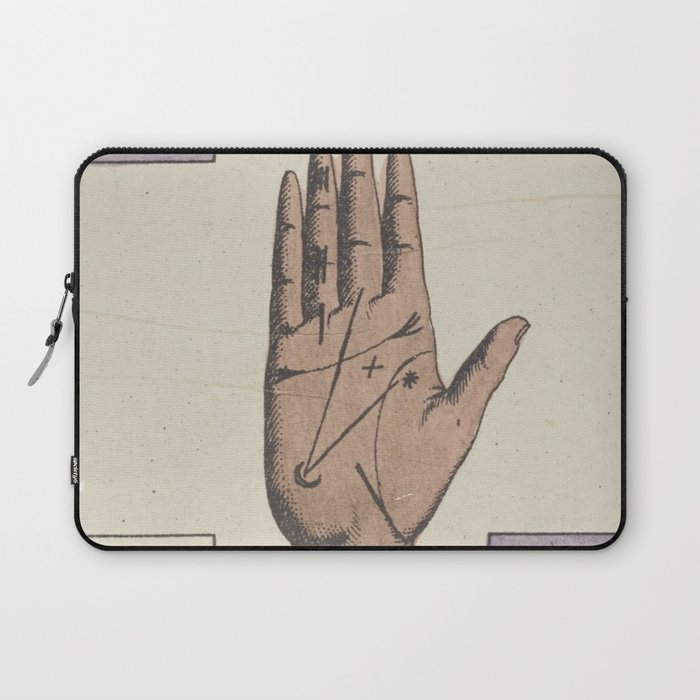 Vintage French Moon Tarot Card Laptop Sleeve