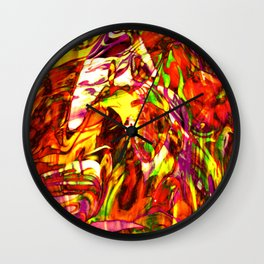Fluid Painting (Yellow Version) Wall Clock