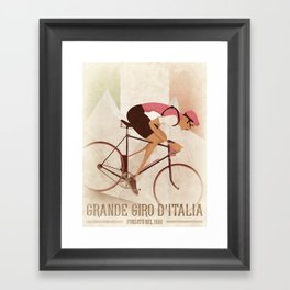 Giro D'Italia Cycling Race Italian Grand Tour Framed Art Print