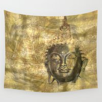 antique Wall Tapestries featuring Buddha antique by Digital-Art