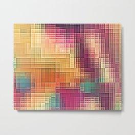 Colored Tetris Metal Print