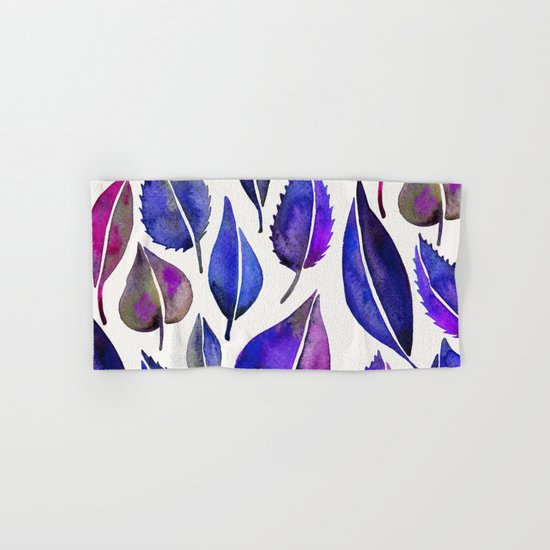 Indigo Leaves Hand & Bath Towel