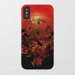 half evil pentagram iPhone Case