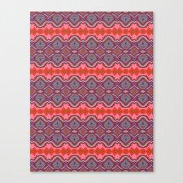 Summer splash - Coral and Blue Canvas Print
