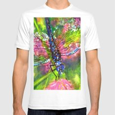 Title: painting - Dragonfly White Mens Fitted Tee MEDIUM