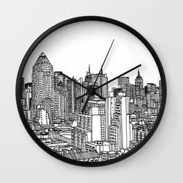 New York View 2 Wall Clock