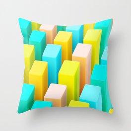 Color Blocking Pastels Throw Pillow