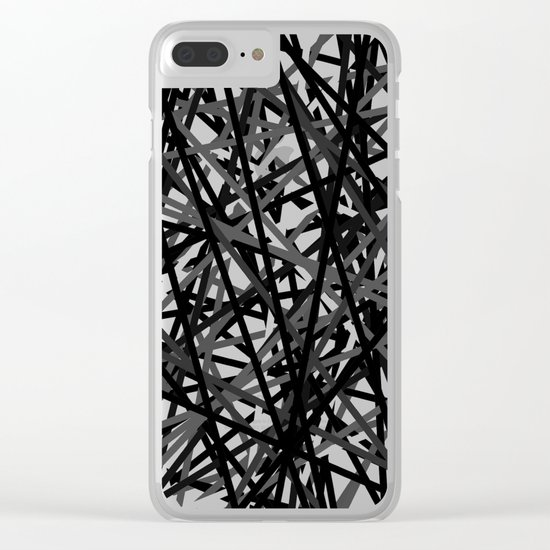 Kerplunk Extended Black and White Clear iPhone Case