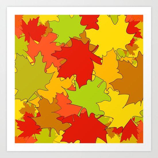 Autumn Leaves / Fall / Höst  Art Print