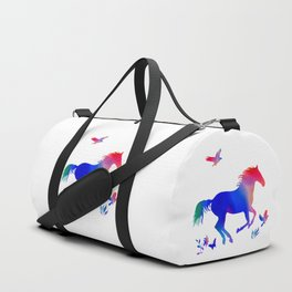 Rainbow horse Duffle Bag
