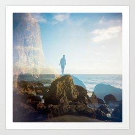 Boy on the California Coast - Film Double Exposure Art Print