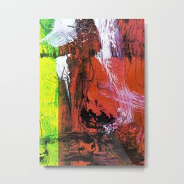 Getting Warmer // abstract painting Metal Print