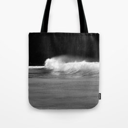 Waves - Black and White Tote Bag