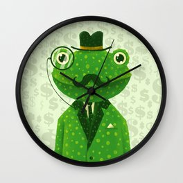 Mr. Frog Wall Clock
