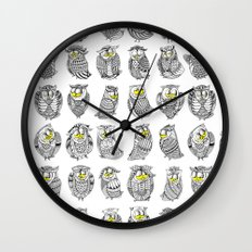 Sleepy Owls Wall Clock