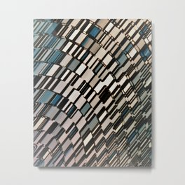 Abstract Architectural Taupe Metal Print