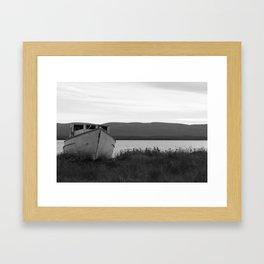 Leaning onto one side Framed Art Print