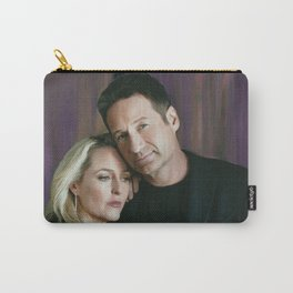 Gillian Anderson and David Duchovny oil color painting Carry-All Pouch