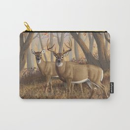 Whitetail Deer Trophy Buck and Doe in Autumn Carry-All Pouch