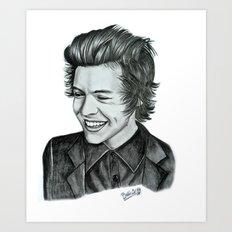 Harry Styles pencil artwork Art Print