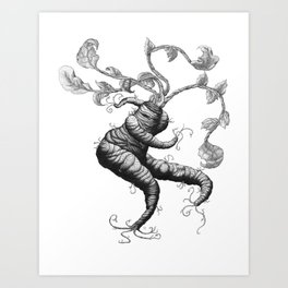 Daikon Dance Art Print