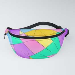 ABSTRACT LINES #1 (Multicolored Vivid) Fanny Pack