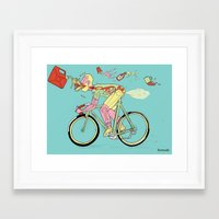 pocket fuel Framed Art Prints featuring Bike Fuel by Peter Swain