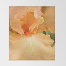 Bearded Iris Orange Harvest Throw Blanket