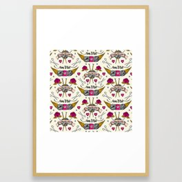 Born To Knit Framed Art Print