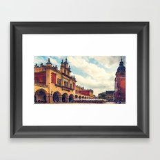Cracow Main Square Old Town Framed Art Print