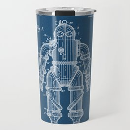 Submarine Armor Patent Blueprint 1915 Travel Mug