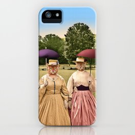Two Pretty Kitties: Out for a Stroll iPhone Case